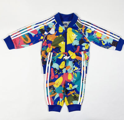 Adidas colour splash sweat suit 3-6M