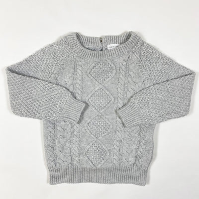 Jamie Kay light grey cable knit jumper diff. sizes