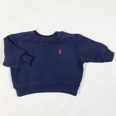Ralph Lauren navy french terry sweatshirt 3M