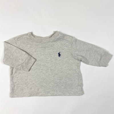 Ralph Lauren greige melange long-sleeved t-shirt 3M/60