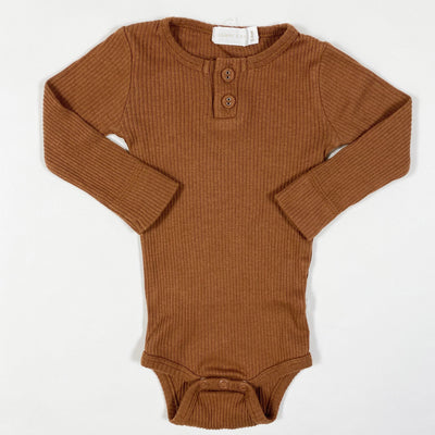 Jamie Kay rust rib long-sleeved body 3-6M