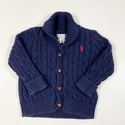 Ralph Lauren navy cable knit cardigan 18M 1
