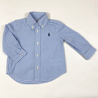 Ralph Lauren light blue checked shirt 9M 1