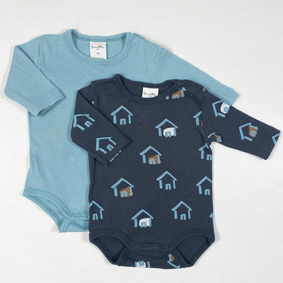 Sanetta teal & grey long-sleeved body set 56 1