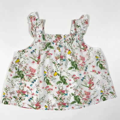Zara floral butterfly sleeveless top 9-12M/80 1