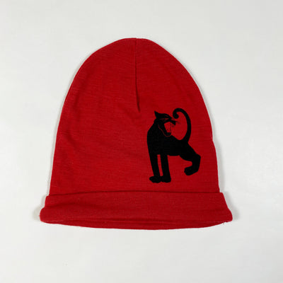 Mini Rodini red panther wool beanie Second Season 44-46/3-9M 1