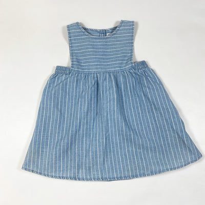 Zara light blue striped pinafore 18-24M/92 1