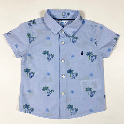 Mayoral blue short-sleeved cheetah shirt 6M/68 1
