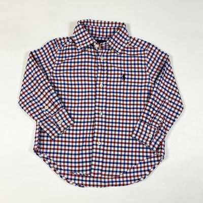 Ralph Lauren blue/red checked shirt 2/2T 1