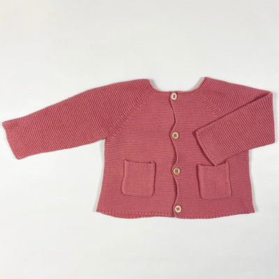 Zara pink cotton knit cardigan 3-6M/68 1