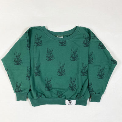 Kidsmuse green sweatshirt with rabbits 7-8Y/122-128