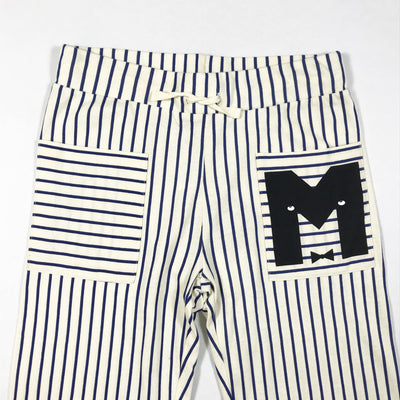 Mini Rodini navy and white striped trousers 140-146
