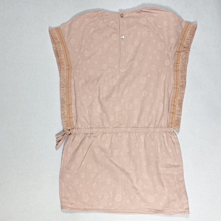 Mini A Ture peach pink fringe detail tunic 9Y/134