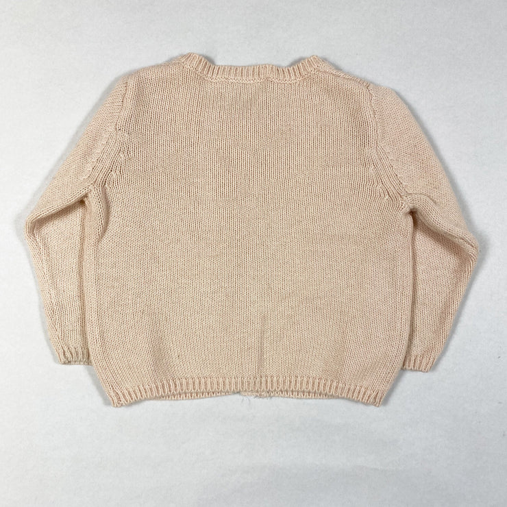 CdeC pale rose knit cardigan 6M