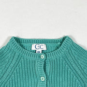 CdeC mint green knit cardigan 6M