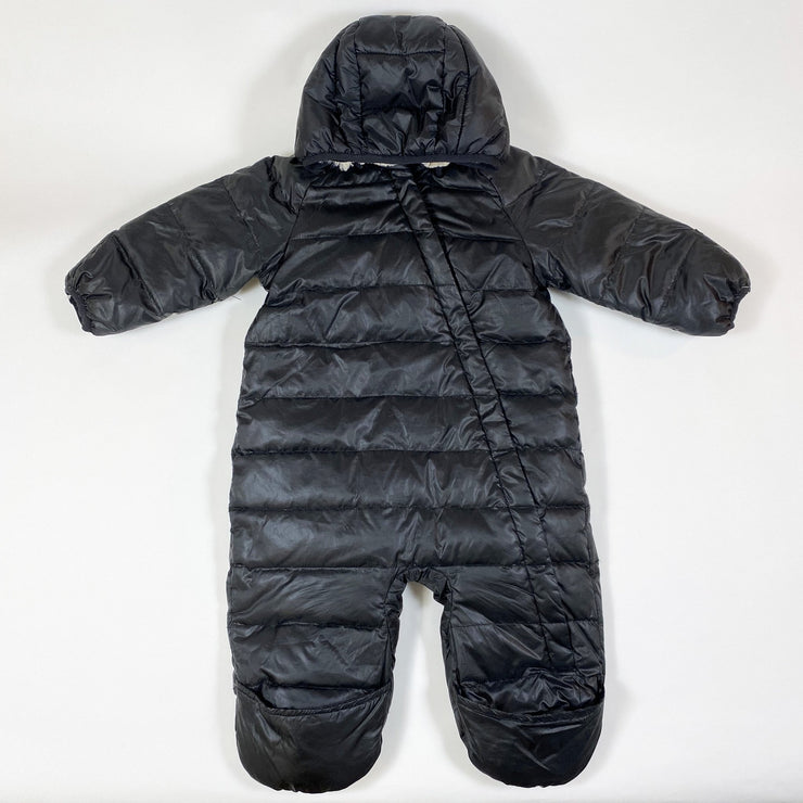H&M black shearling lined overall 74