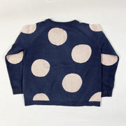 COS blue cardigan with pink circles 2-4Y/98-104