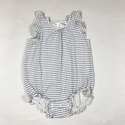 H&M blue and white sleeveless striped romper 86