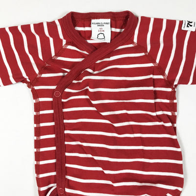 Polarn O. Pyret red striped long-sleeved wrap body2-4M/62