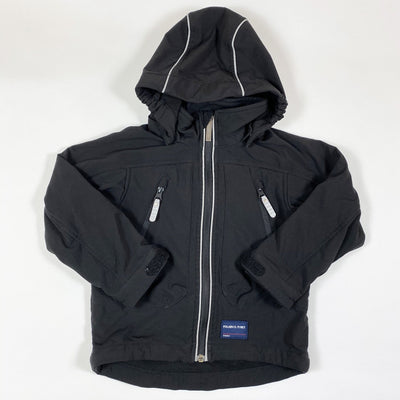 Polarn O. Pyret black fleece-lined soft shell jacket with removable hood 3-4Y/104