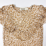 MarMar Copenhagen long-sleeved leopard print body with ruffle detail 1Y