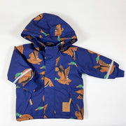 Mini Rodini navy duck print parka 80-86