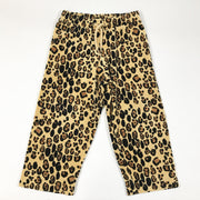 Mini Rodini leopard print velvet set with hoodie and trousers 116-122
