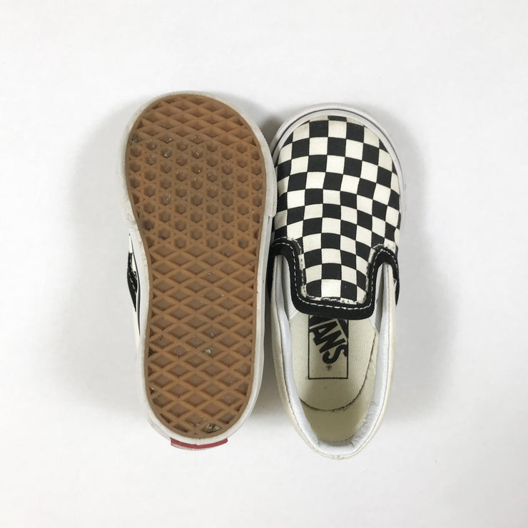 Vans classic black & white checked sneakers 6
