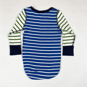 Polarn O. Pyret blue/green/beige striped long-sleeved body 9-12M/80