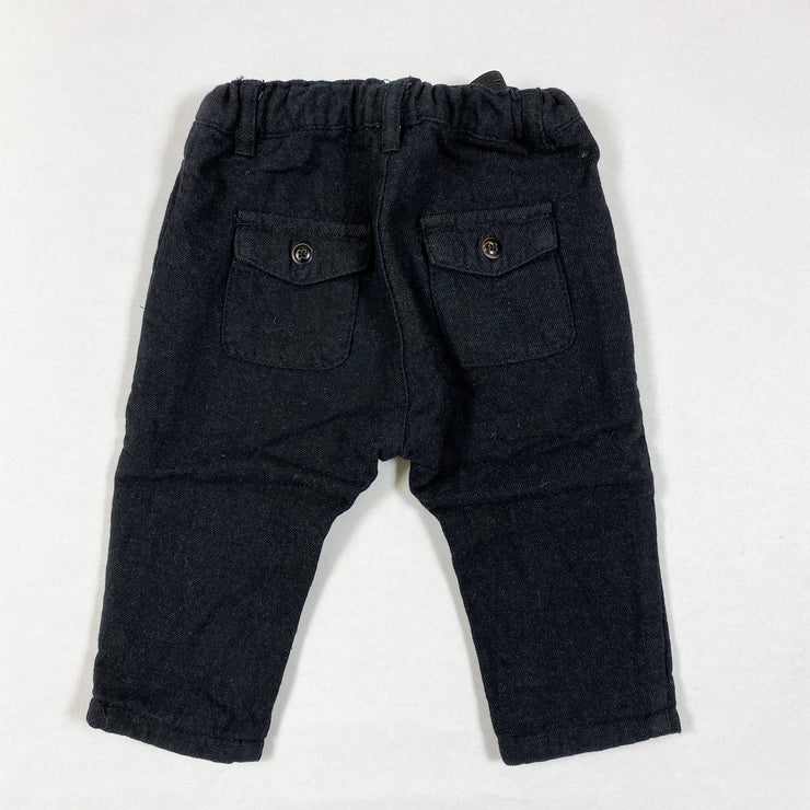 Zara black trousers 3-6M/68
