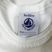 Petit Bateau short-sleeved white body 3M/60