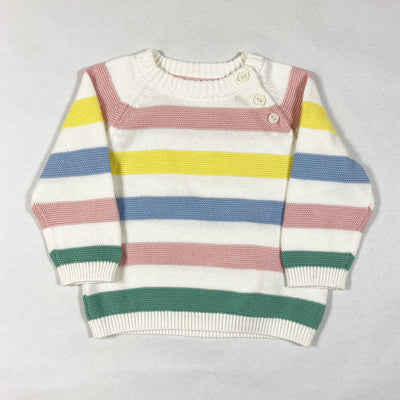 H&M multi-coloured striped cotton knit jumper 68