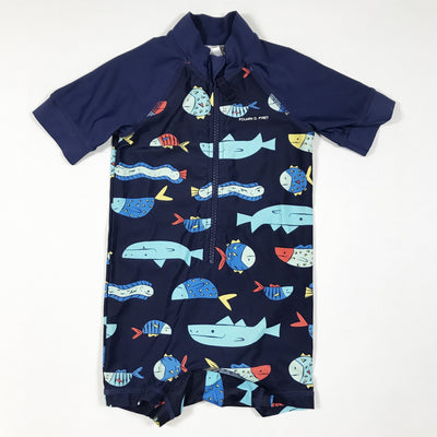 Polarn O. Pyret blue swimsuit with fish 6-12M/74-80