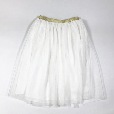 Simple Kids white tulle skirt with gold elastic Second Season 10Y
