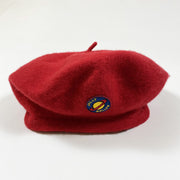 Jelly Mallow red wool beret Second Season 52