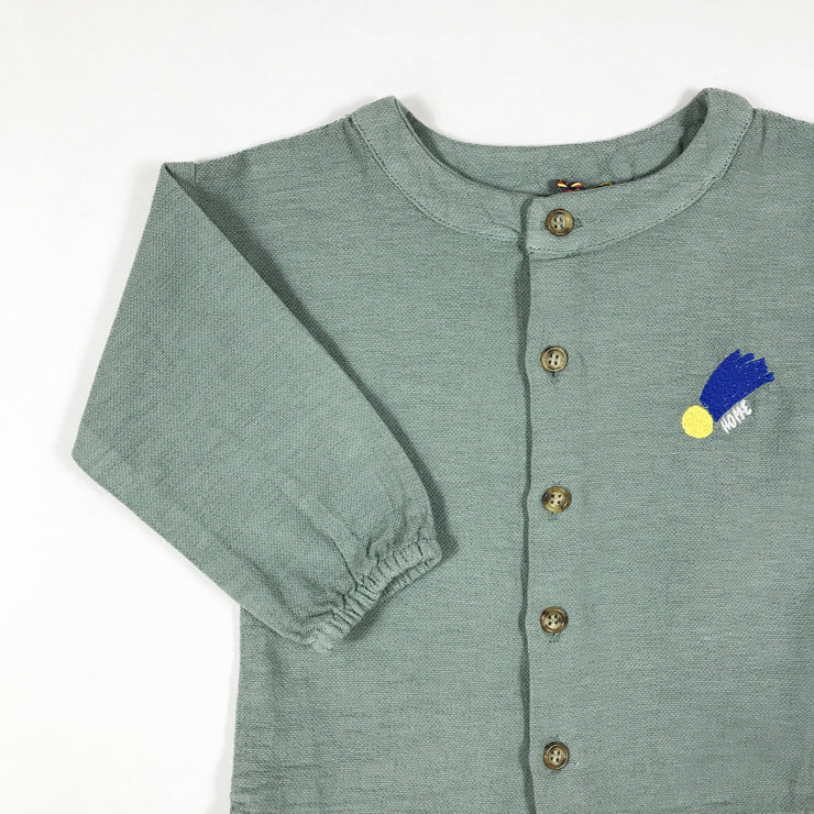 Bobo Choses iceberg grey a star called home embroidered shirt Second Season 24-36M