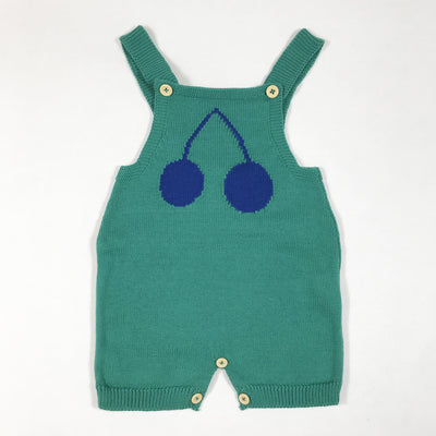 Bobo Choses green cherry knit dungaree Second Season