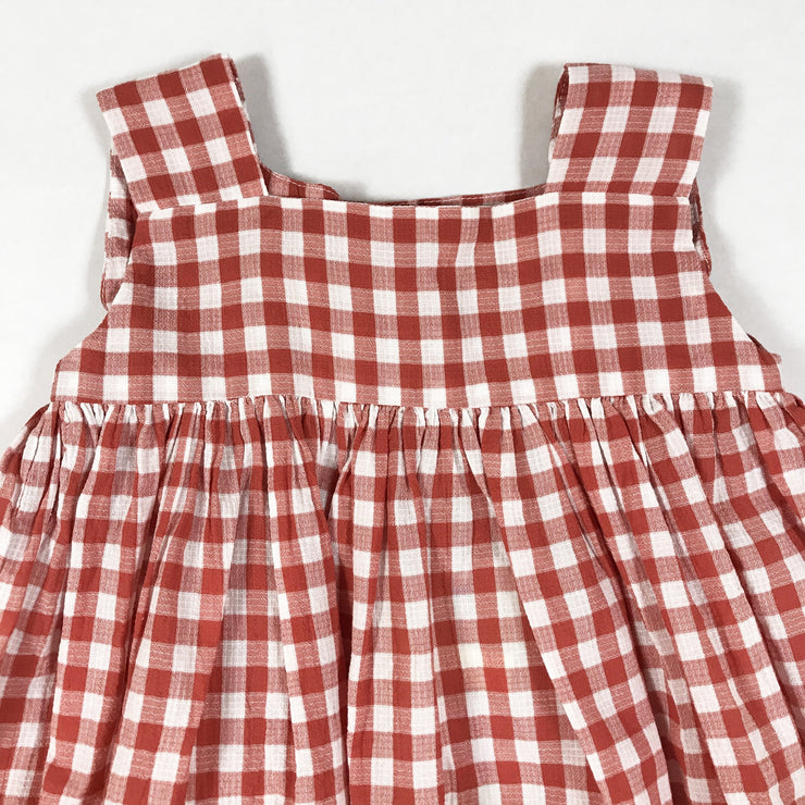 Morley red hilda vichy strap dress Second Season 2Y