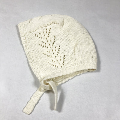 Bonton ecru knit bonnet Second Season One Size
