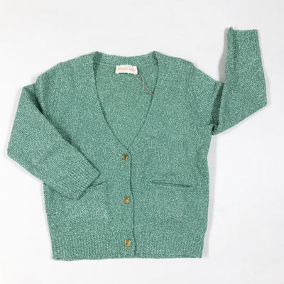 Simple Kids mint green metallized cardigan Second Season diff. sizes