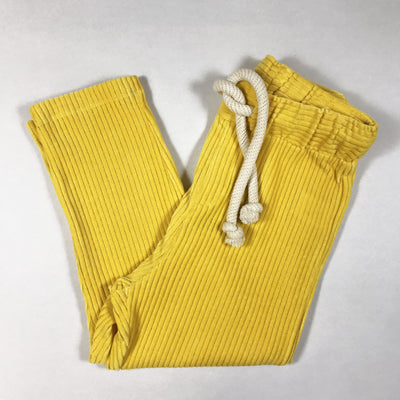 Fish & Kids yellow stretch cord pants Second Season 8-9Y