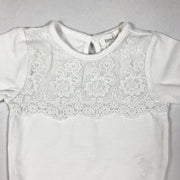 Newbie white long-sleeved body with lace detail 1M/56