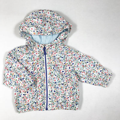 Zara floral print hooded windbreaker jacket 3-6M