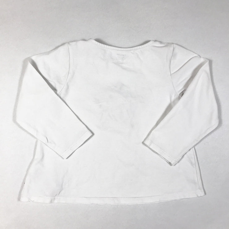 Obaïbi white long-sleeved t-shirt with star shaped applique 36M/98