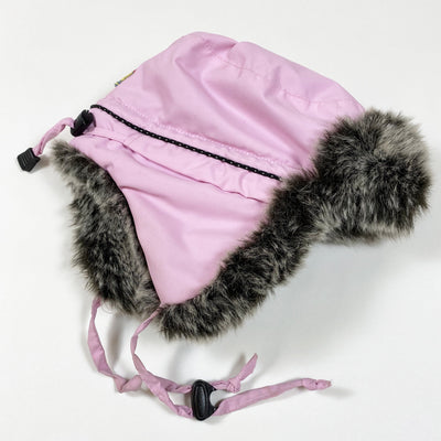 Wilma & Morris pink trapper hat with faux fur lining 50-56