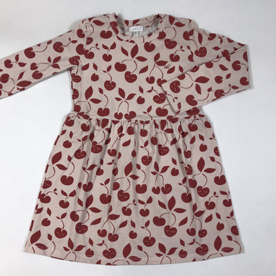 Livly beige cherry print long-sleeved dress 5Y/116