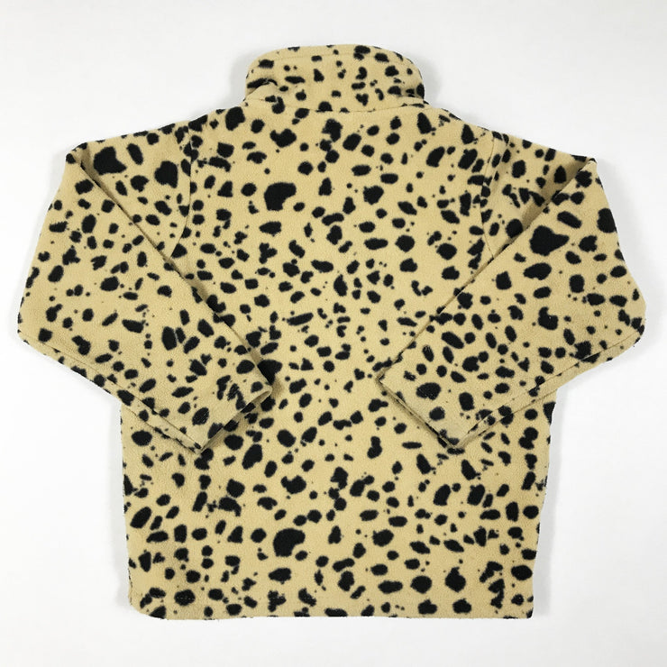 Mini Rodini spot animal print fleece jacket with front zipper 80-86