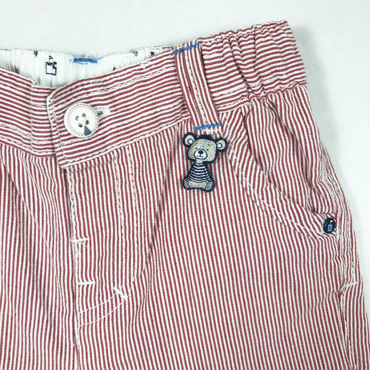 Sergent Major red and white striped chinos 6M/68