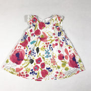 Catimini white and pink floral print short-sleeved dress with matching bloomers 1M/53