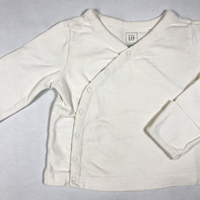 Baby Gap off-white long-sleeved kimono top 3-6M/68